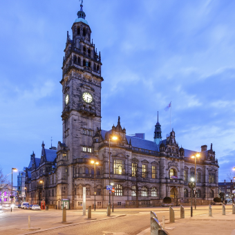 The Sheffield Town Hall building