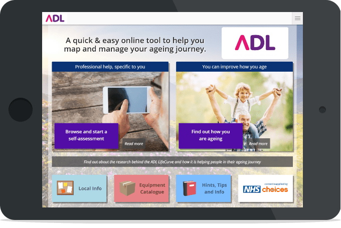 The ADL platform on a tablet device